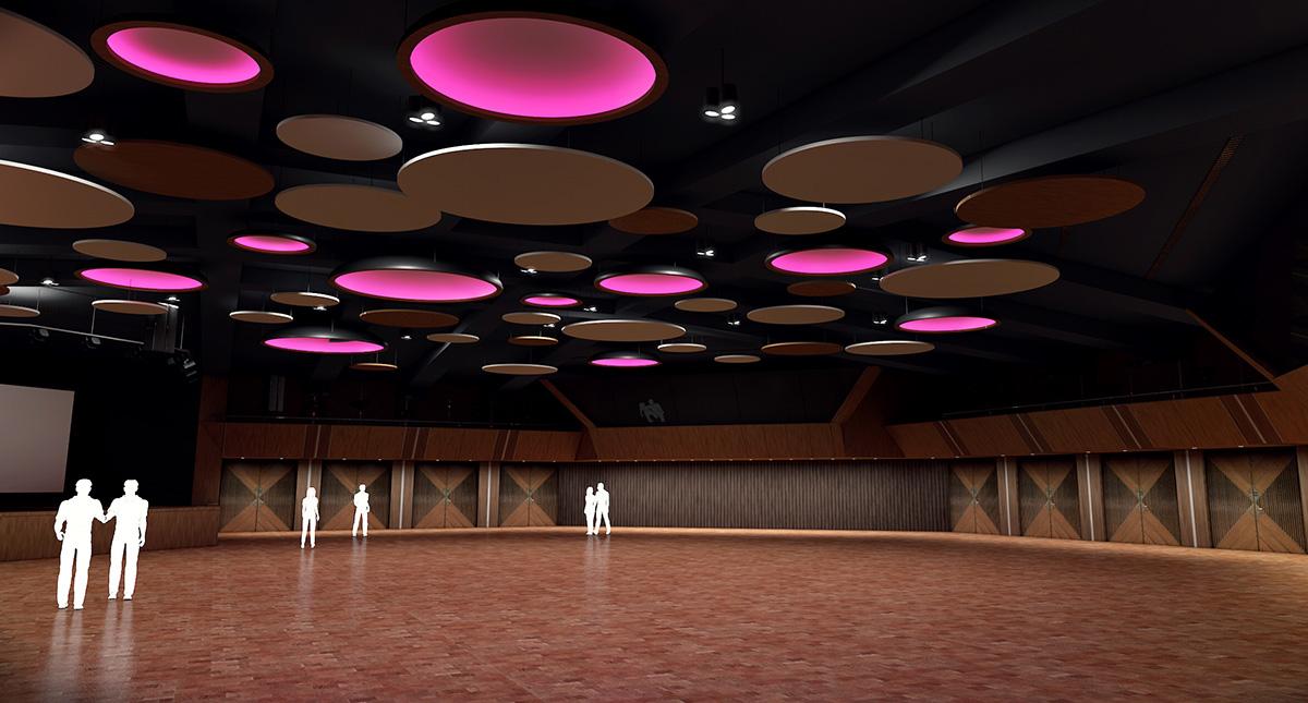 Modernisierung Stadthalle Karlsruhe, Weinbrennersaal, SSP Architekten Bochum Karlsruhe