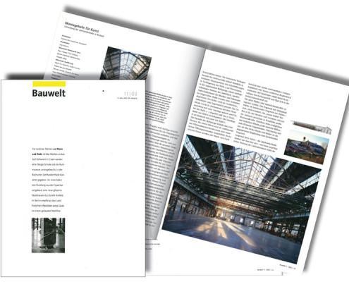 BauWelt 2003 11, Jahrhunderthalle Bochum, SSP Architektur Bochum