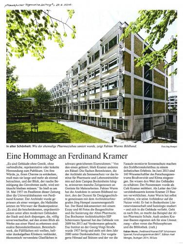FAZ 29.04.2014, Eine Hommage an Ferdinand Kramer