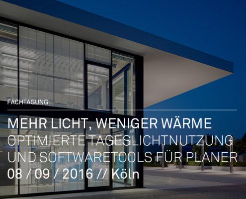 Fachtagung Optimierte Tageslichtnutzung, Technologie- und Bildungszentrum Köln, SSP Architekten Bochum