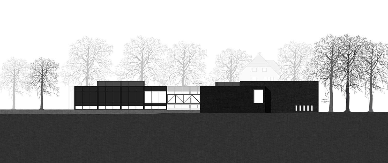 Architekturwettbewerb Josef Albers Museum Quadrat Bottrop Ansicht Nordwest, SSP Architekten Bochum