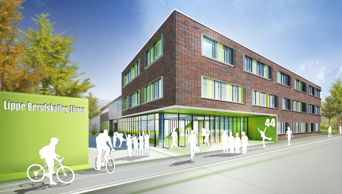 Lippe Berufskolleg Lünen, SSP Bochum, Architektur