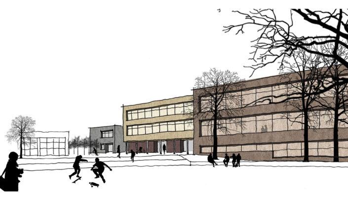 Märkisches Gymnasium Hamm Perspektive, SSP Architekten Bochum