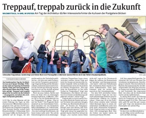 Artikel Rheinfalz, Tag der Architektur 2014