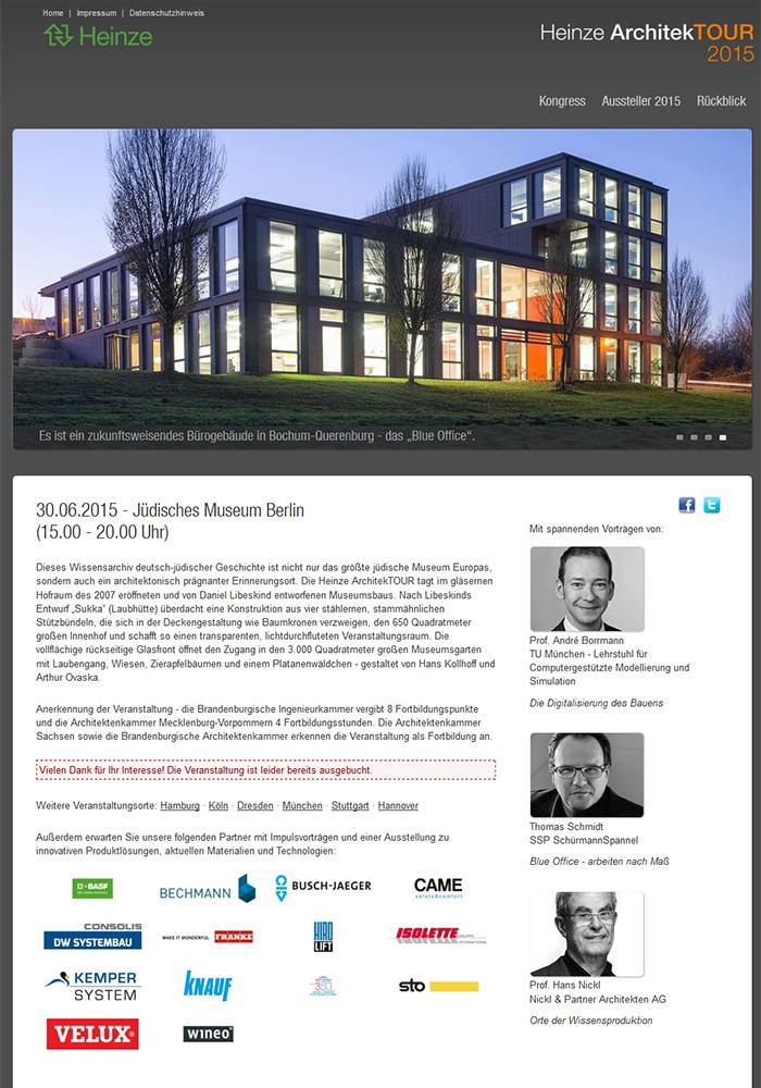 Heinze ArchitekTOUREN, Jüdisches Museum Berlin, Daniel Libeskind Architects, Thomas Schmidt, SSP Bochum