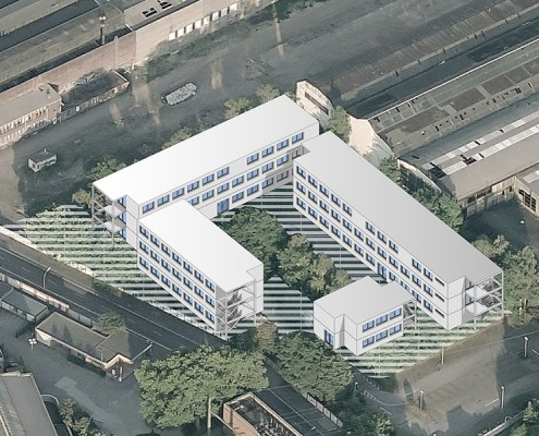 Visualisierung | Ausweichquartier Fritz-Henßler-Berufskolleg Dortmund