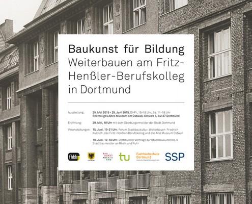 Ausstellung Baukunst für Bildung Dortmund