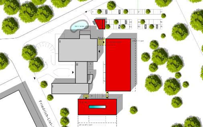 Denso Wegberg, Lageplan, SSP Architekten Bochum