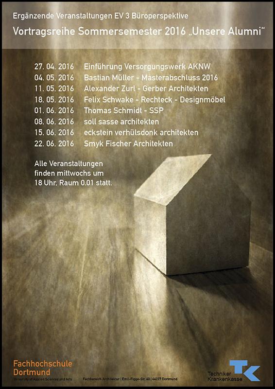 FH Dortmund Alumni Vortragsreihe 2016, Büroperspektiven Thomas Schmidt, SSP Architekten Bochum