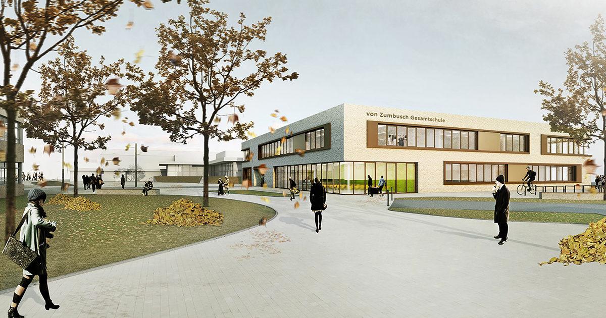 Von Zumbusch Gesamtschule Herzebrock-Clarholz, Visualisierung, SSP Architekten Ingenieure Bochum