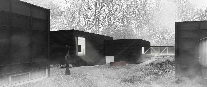 Architekturwettbewerb Josef Albers Museum Quadrat Bottrop Außenvisualisierung, SSP Architekten Bochum