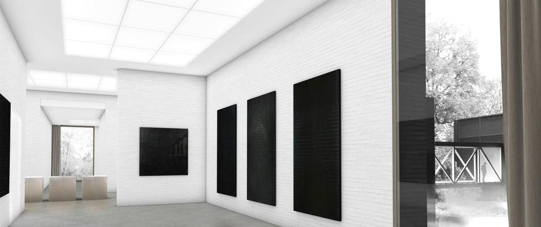 Architekturwettbewerb Josef Albers Museum Quadrat Bottrop Innenraumvisualisierung, SSP Architekten Bochum