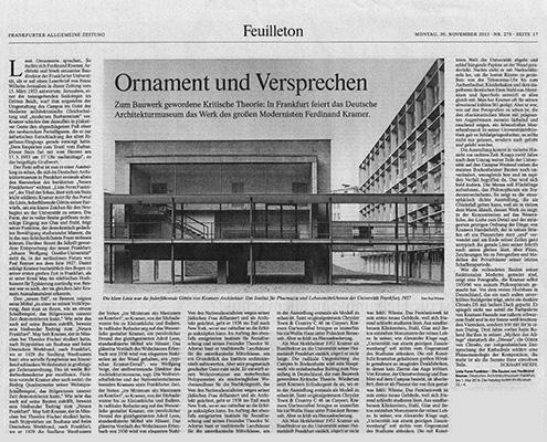 Linie Form Funktion, Ferdinand Kramer, Deutsches Architekturmusem Frankfurt, SSP Architekten, Bochum