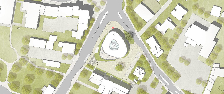 WBW Musikschule Luedenscheid, Lageplan, SSP Architekten Ingenieure Bochum