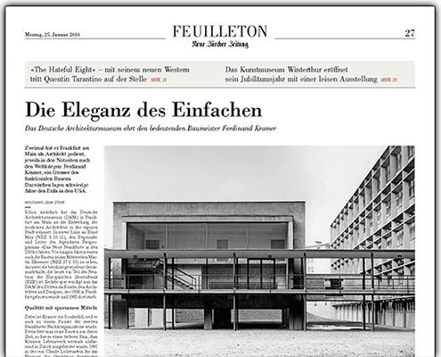 NZZ Neue Züricher Zeitung, Alte Pharmazie, Forschungszentrum BiK-F, Ferdinand Kramer, SSP Architekten Bochum, Thumbnail