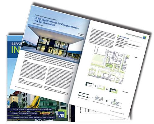 VBI Beratende Ingenieure Magazin, TBZ Technologiezentrum für Energieeffizienz HWK Köln, SSP Architekten Bochum