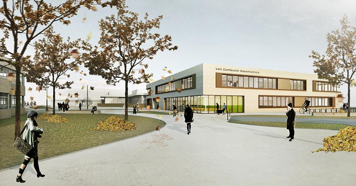 Von Zumbusch Gesamtschule Herzebrock Clarholz Fassade, SSP Architekten Bochum