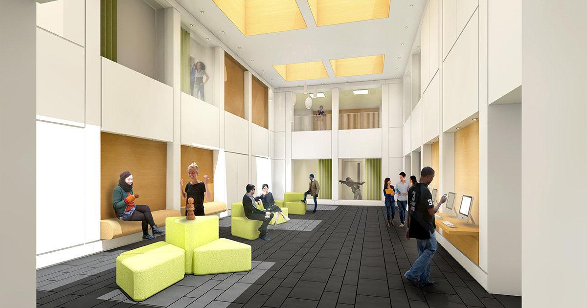Von Zumbusch Gesamtschule Herzebrock Clarholz Forum, SSP Architekten Bochum